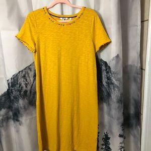 BODEN Charlie T-Shirt Dress Tuscan Sun Yellow NWT